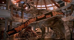 T-Rex from one of the final scenes of Jurassic Park
