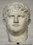 A sculpture of Nero's face