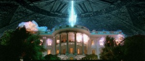"""Scene from """"Independence Day"""" where the White House is blown up by aliens..."""