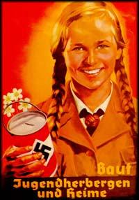 Nazi schoolgirl / girl scout on propaganda poster