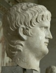 A side view of Nero's sculpture