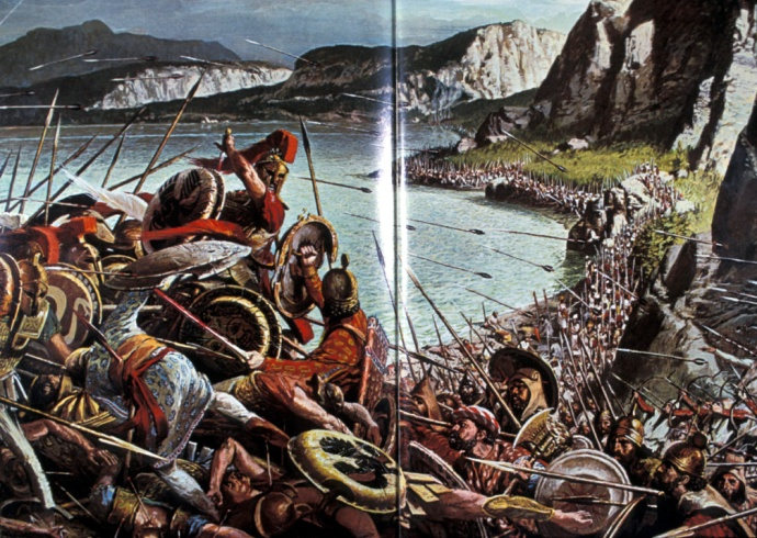 A painting depicting the Spartan's Last Stand
