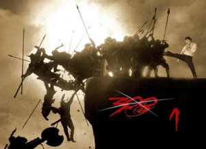 A photo-shopped version of the 300 poster where the Spartans were swapped out for Chuck Norris...