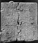 cracked ancient Babylonian tablet