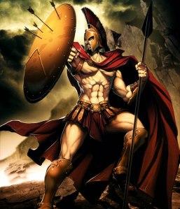 Badass Digital Painting of Leonidas