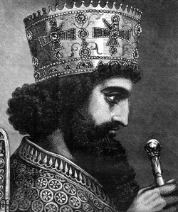 An old depiction of Xerxes