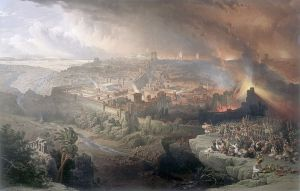 painting of the destruction of Jerusalem