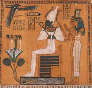 Isis giving Osiris a back massage...?