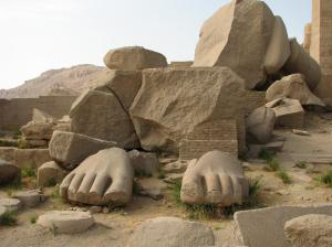 the remains of Ramses II's colossal statue: just it's feet