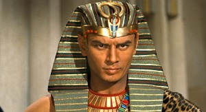 "Yul Brynner as Ramses in ""The Ten Commandments"""