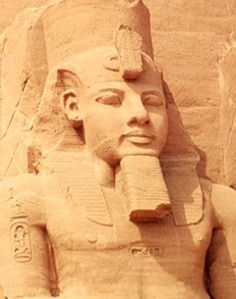 Stone statue of Ramses's face