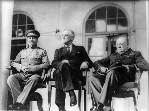 a picture from the Teheran conference (1943)
