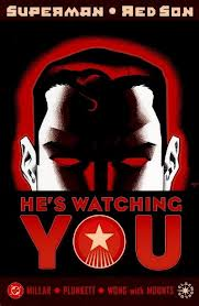 """one of the covers of the Superman Elseworlds tale: """"Red Son"""" about Superman as a Soviet hero"""