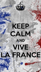 'Keep Calm and Vive La France'