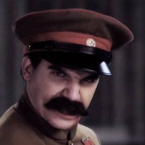 Stalin from the Epic Rap Battles of History skit (Stalin vs Rasputin)