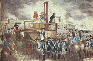 a painting of the execution of the French King, Louis XVI