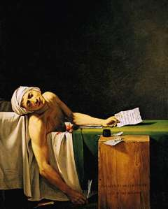 painting of Jon Paul Marat's famous death