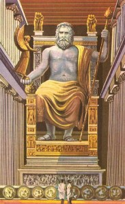 Depiction of The Statue of Zeus