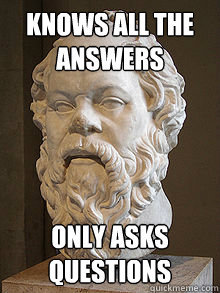 Socrates bust: Knows all the answers, only asks questions
