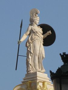 a statue of Athena