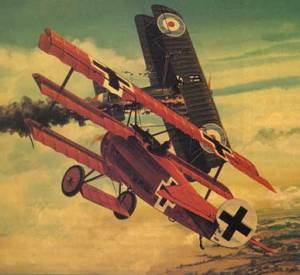 aerial dogfight - WWI