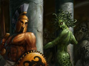 Perseus and Medusa from Greek Mythology