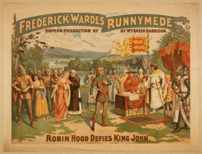 """Robin Hood defies King John (Frederick Warde's """"Runnymede"""")"""