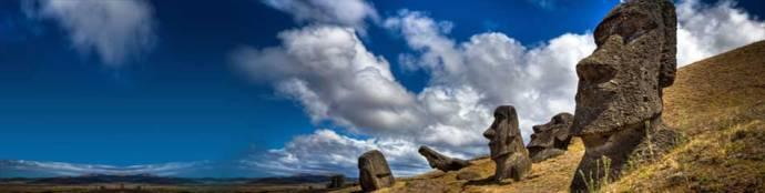 Easter Island - stone heads