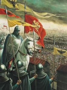 painting of Crusader Knights