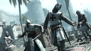 "screenshot from the first ""Assassin's Creed"" game (Ps3)"