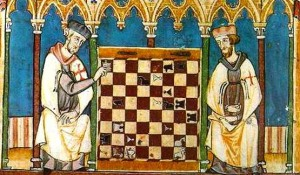 Templars playing chess