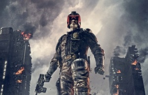 "poster for ""Dredd"" starring: Karl Urban as Judge Dredd"