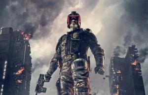 """poster for """"Dredd"""" starring: Karl Urban as Judge Dredd"""