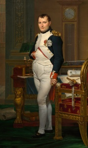 painting: Napoleon in his study at the Tuileries