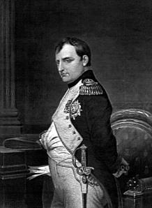 black and white of Napoleon portrait
