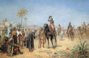 'Napoleon arriving at an Egyptian Oasis' by Robert Alexander Hillingford