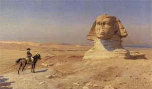 Napoleon staring down the Sphinx