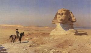 Napoleon staring down the Sphinx