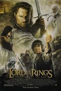 movie poster for Peter Jackson's 'Return of the King', the final chapter in 'the Lord of the Rings' trilogy