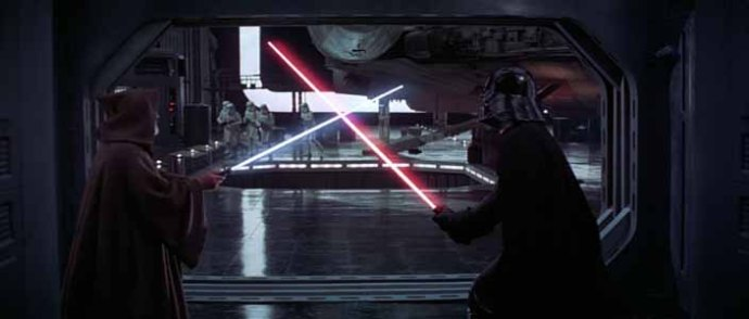 Obi-Wan vs Vader (Star Wars - Episode IV - A New Hope)