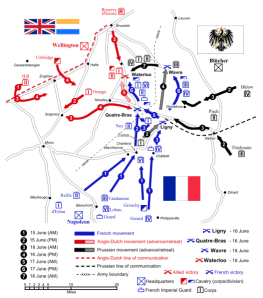 Waterloo campaign map