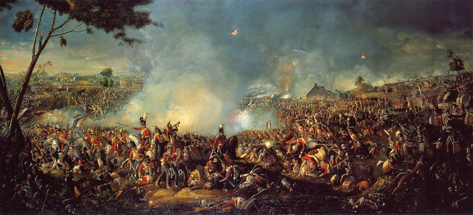 painting depicting the brutality of Waterloo