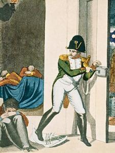 Napoleon escapes his exile in Elba