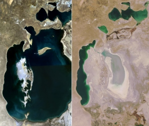 The Aral Sea - Before and After (1989-2008)