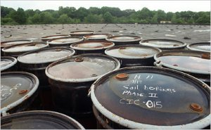 barrels of toxic waste