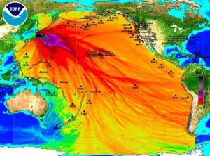Fukushima Radiation leak - map