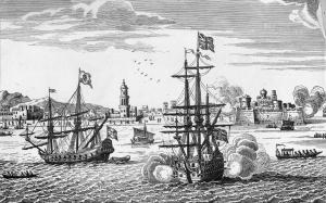 Naval battle from 'the War of Jenkins' Ear'