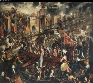 Fall of Constantinople painting