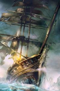 Pirate ship art