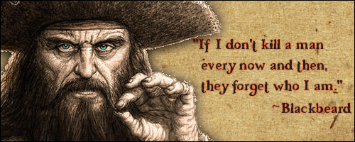 Black Beard quote: